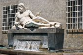 picture of turin  - The fountain of Po river in Turin Italy - JPG