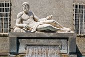 pic of turin  - The fountain of Po river in Turin Italy - JPG