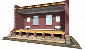 pic of soffit  - Cross section of brick house - JPG