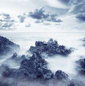 picture of crimea  - sea coats and sky in Crimea beach in Crimea - JPG