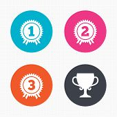 stock photo of prize winner  - Circle buttons - JPG