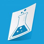 pic of conic  - Sticker with conical flask icon - JPG