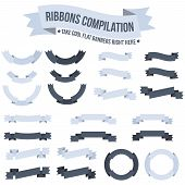 foto of ribbon  - Banners ribbons circular ribbons of different designs - JPG