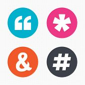 stock photo of hashtag  - Circle buttons - JPG