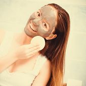 picture of mud  - Beauty procedures spa and skin care concept - JPG