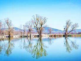 stock photo of crimea  - lake in Crimea spring nature in Crimea - JPG