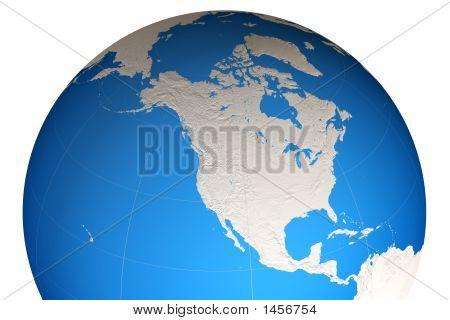 World Globe poster