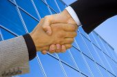 Good business team work! Handshake to seal the agreement