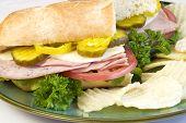 Italian Submarine Sandwich With Chips