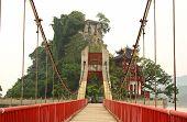 Scenic bridge and China temple
