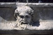pic of waterspout  - Greek theatre mask as waterspout Aphrodisias Turkey