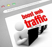 Boost website verkeer - Internet screenshot