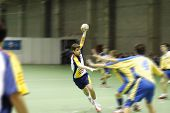 Handballspieler und-Trainer
