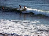 Two Surfers Surfing