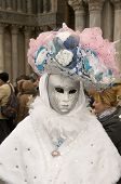 VENICE, ITALY - FEBRUARY 27: Participant in The Carnival, an  festival that starts around two weeks