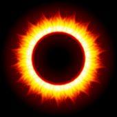 Abstracte brandende vuur cirkel bovenaanzicht vector achtergrond. EPS-10.