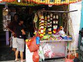 flower garland stall