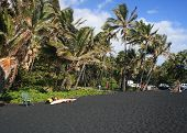 Hapuna black sand beach