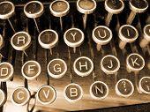 Brown Typewriter
