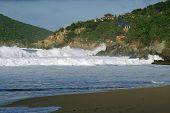 Large Waves at Tortola Beach