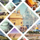 Beautiful Vacation Collage Made From Mahy Photos. poster