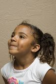 Cute African American Child poster