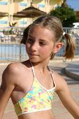 Girl Near The Swimming Pool