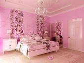 Pink Teengirl's bedroom
