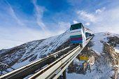 Funicular Going To Kitzsteinhorn Peak