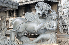 picture of belur  - an intricate design in an ancient hindu temple - JPG