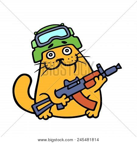 Funny Cat Special Forces Armed