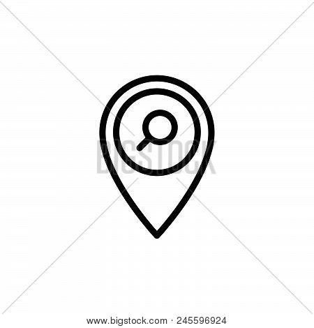 Find Location Vector Icon On White Background Find Location Modern