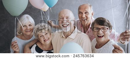 A Group Of Happy Senior