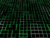 Green Neon Glowing Tiles
