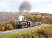 Wm Steam Train Powers Along Railway