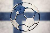 Soccer Ball National Finland Flag. Finland Football Ball. poster