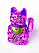 Traditional Asian Lucky Souvenir Golden Kitty Cat Maneki Neko. poster