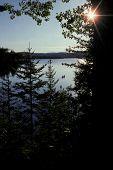 Canoe On Lake Hebron, Maine