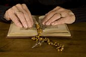 Old Hands By Reading The Bible