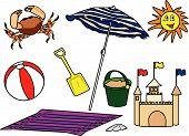 Beach-Items.Eps
