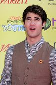 LOS ANGELES - OCT 22:  Darren Criss arriving at the 2011 Variety Power of Youth Evemt at the Paramou