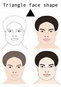 Face Shapes Guide For Make Up Artist School.  Blank Faces Without Make Up Vector Illustration. Indiv poster