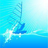 windsurfing vector