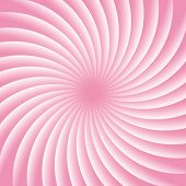 Soft Pink And White Rotating Hypnosis Spiral. Twirl Abstract Background. Optical Illusion. Hypnotic  poster