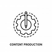 Content Production Vector Icon On White Background. Content Production Modern Icon For Graphic And W poster