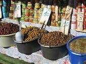 Food stuff at Carmel Market, Israel