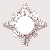 Chapiter- hand draw sketch composite architectural order. Bitmap copy my vector ID 84869272