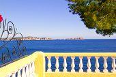 Mediterranean fence in Cala Fornells Mallorca Balearic Island