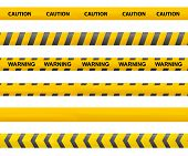Tape Caution. Police Line. Warning Tape Vector. Accident poster