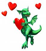 Dragon With Hearts